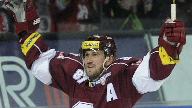 Sparťan Petr Ton se raduje po vyrovnávacím gólu proti Třinci.