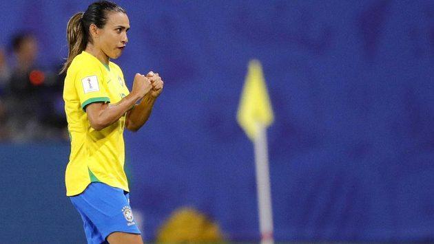 Brazilská fotbalistka Marta během utkání s Itálií na MS žen 2019.