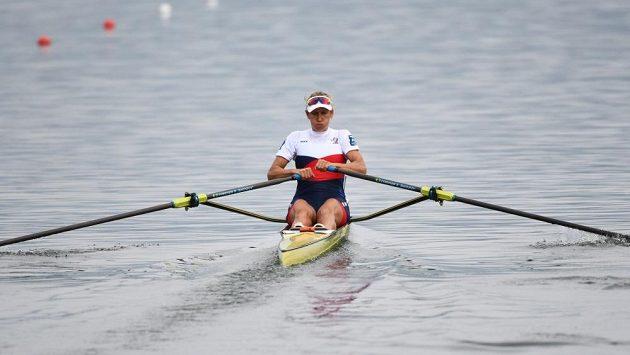 Mirka Topinková během probíhajícího mistrovství světa.