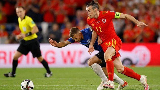Hvězda Walesu Gareth Bale v akci.
