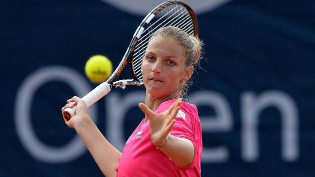 Česká tenistka Karolína Plíšková na turnaji ITF Sparta Prague Open.
