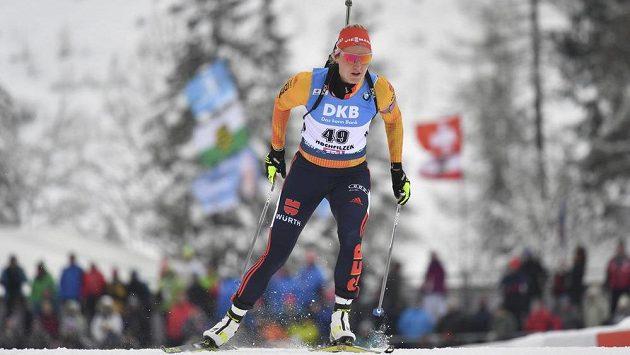 Německá biatlonistka Denise Herrmannová zatím v sezoně nenaplňuje očekávání.