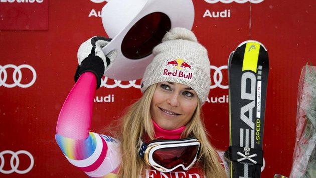 Půvabná americká lyžařka Lindsey Vonnová.