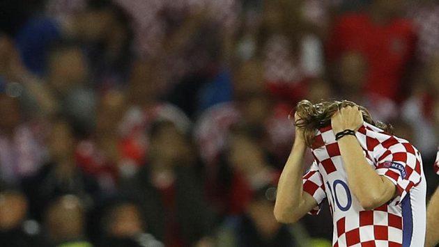 Chorvatská hvězda Luka Modrič po porážce s Portugalskem - ilustrační foto.