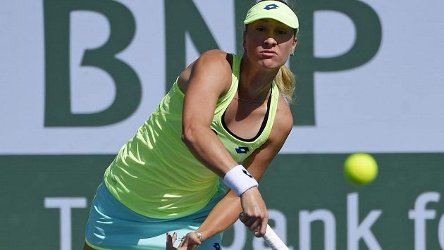 Denisa Allertová na turnaji v Indian Wells.