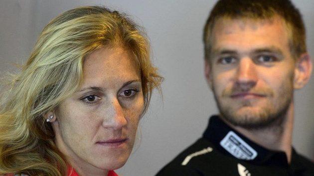 Skifaři Ondřej Synek a Miroslava Knapková na tiskové konferenci před odletem české reprezentace na mistrovství Evropy ve veslování.