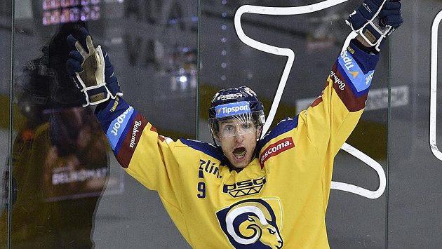 Autor vítězného gólu Bedřich Köhler ze Zlína.