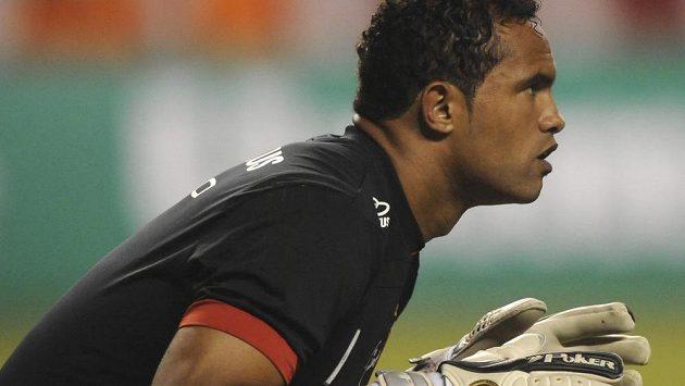 Brazilský fotbalový brankář Bruno Fernandes de Souza během angažmá ve Flamengu v roce 2010.
