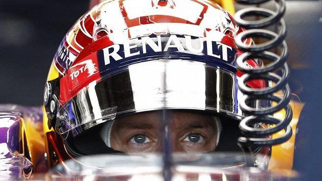 Německý pilot Sebastian Vettel při tréninku na Velkou cenu Japonska.
