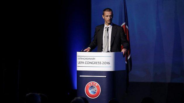 Nový šéf Evropské fotbalové unie UEFA Aleksandar Čeferin.