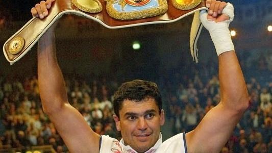 Boxer Corrie Sanders slaví poté, co porazil Vladimira Klička - archivní foto.
