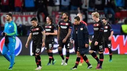 Fotbalisté Bayeru Leverkusen.