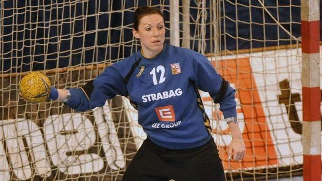 Brankářka české házenkářské reprezentace Barbora Raníková