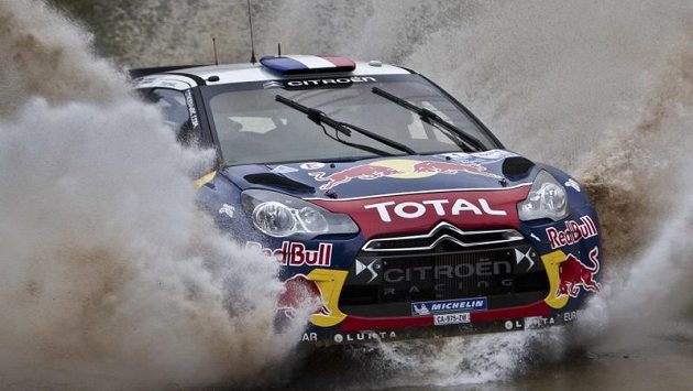 Sebastian Loeb z Citroënu na Argentinské rallye.