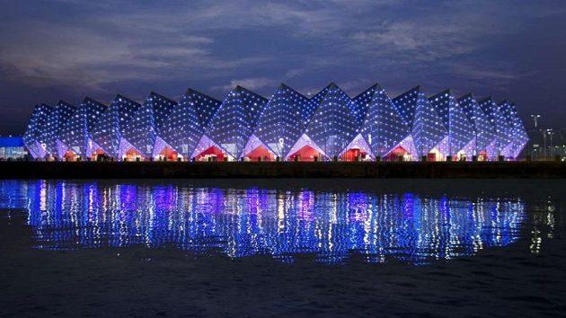 Křišťálová hala v Baku, kde se bude soutěžit v šermu, karate a taekwondu.