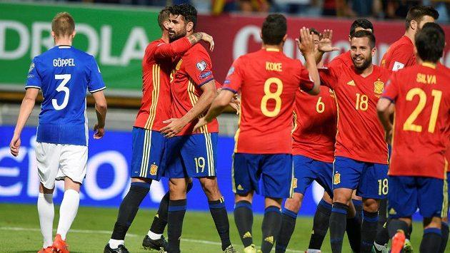 Fotbalisté Španělska na úvod kvalifikace MS 2018 rozstříleli Lichtenštejnsko.