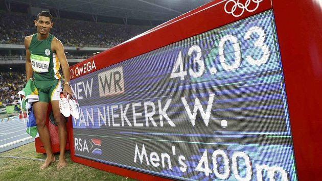 Olympijský vítěz na 400 m Wayde van Niekerk z JAR.