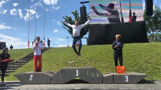 Velká radost. Kajakář Vít Přindiš se stal poprvé mistrem Evropy ve vodním slalomu.