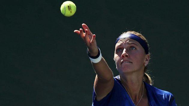 Petra Kvitová v utkání 2. kola grandslamového US Open v New Yorku.
