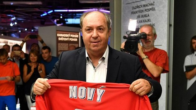 Legenda českého a kladenského hokeje Milan Nový.
