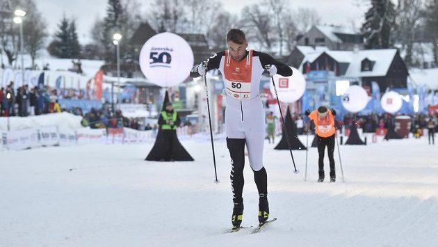 Nor Petter Northug při sprintu v Bedřichově.