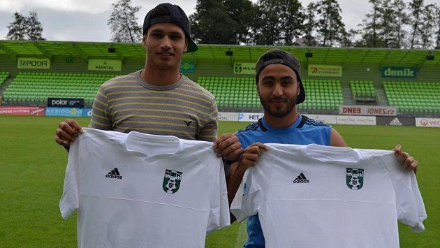 Nové posily Karviné. Venezuelští fotbalisté Eric Ramiréz (vlevo) a Ricardo Piňa.
