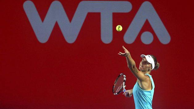 Karolína Plíškova na turnaji v Hongkongu.