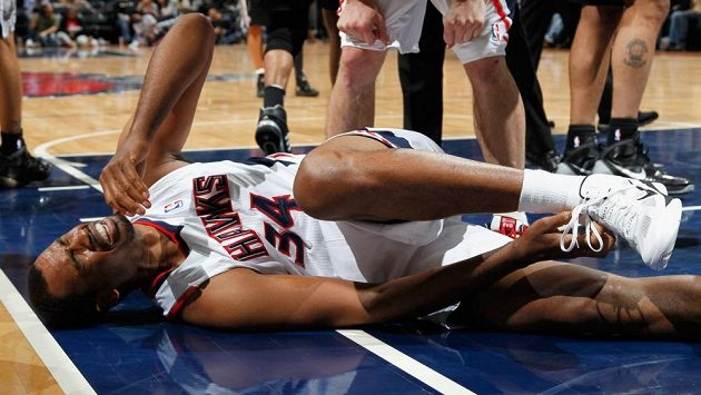 Basketbalista Jason Collins v dresu Atlanty