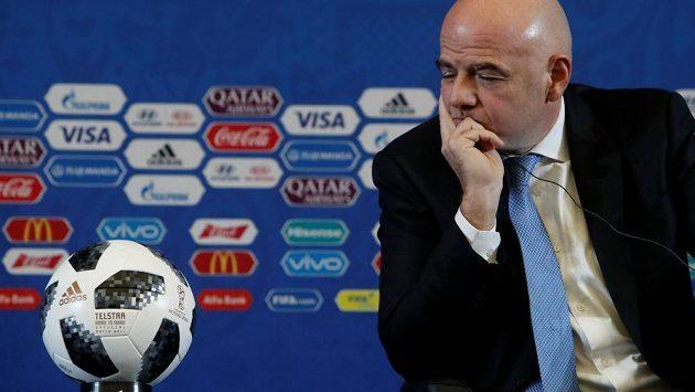 Prezident FIFA Gianni Infantino, ilustrační snímek.