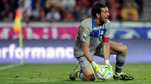 Brankář Gianluigi Buffon.