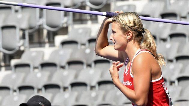 Irena Šedivá v kvalifikaci berlínského mistrovství Evropy.