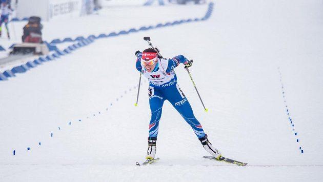 Veronika Vítková dobíhá do cíle vytrvalostního závodu na MS v Oslu.