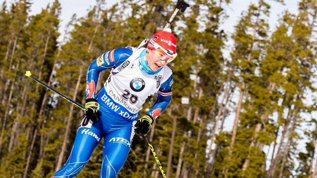 Veronika Vítková na trati v kanadském v Canmore.