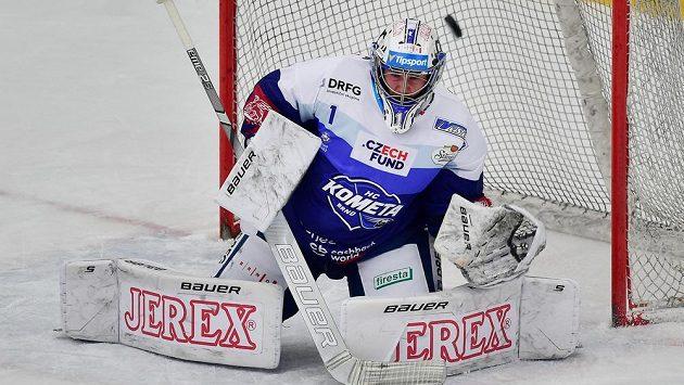Brankář Brna Marek Čiliak předvedl výborný výkon