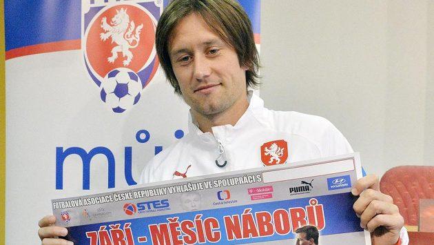 Projekt Měsíc náborů podpořil také kapitán fotbalové reprezentace Tomáš Rosický.
