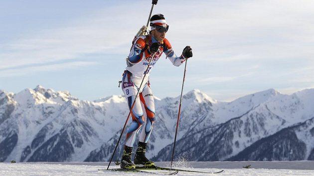 Český biatlonista Jaroslav Soukup.