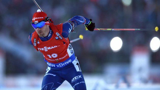 Michal Šlesingr na trati sprintu v závodě SP ve Vysočina Areně v Novém Městě na Moravě.