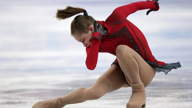 Ruský krasobruslařka Julia Lipnická