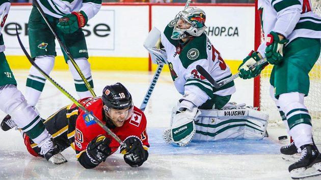 Ilustrační snímek z utkání Calgary - Minnesota.