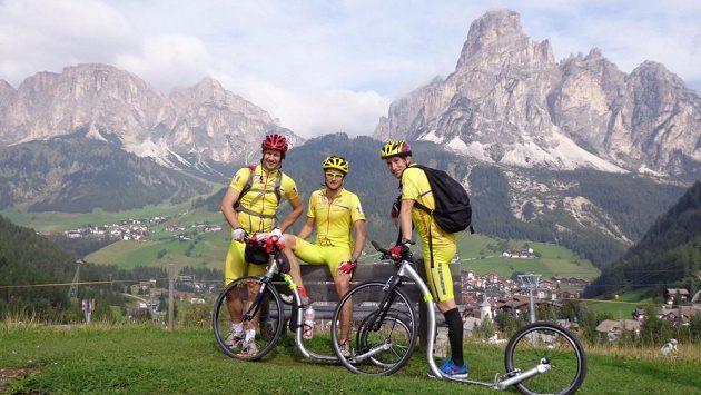 První tréninkový kemp na Tour de France v Dolomitech (září 2012).