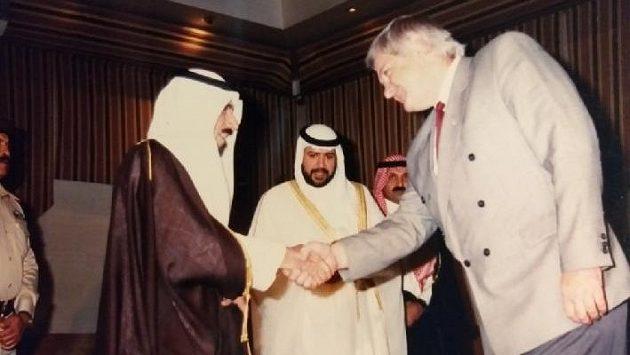 Audience u kuvajtského emíra po vítězství v Gulf cupu.