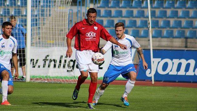 Miroslav Slepička v dresu Táborska během utkání v Ústí nad Labem.