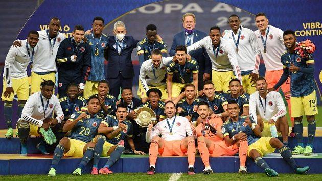 Fotbalisté Kolumbie vybojovali na mistrovství Jižní Ameriky bronz.