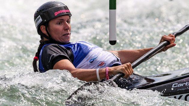 Karolína Galušková při Světovém poháru v Augsburgu.