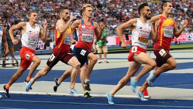 Lukáš Hodboď bojuje v semifinále mistrovství Evropy v Berlíně.