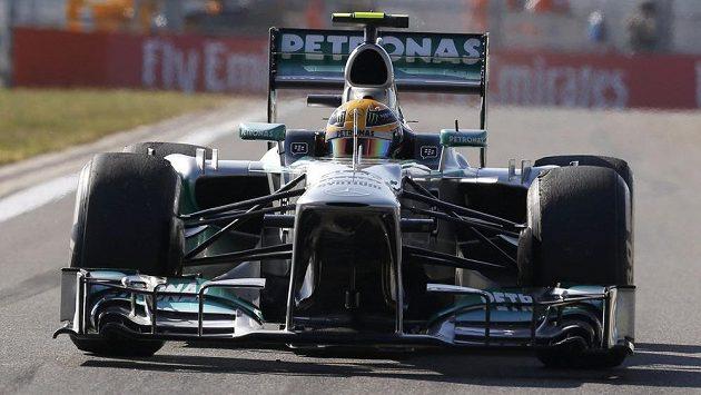Lewis Hamilton během tréninku na GP Koreje