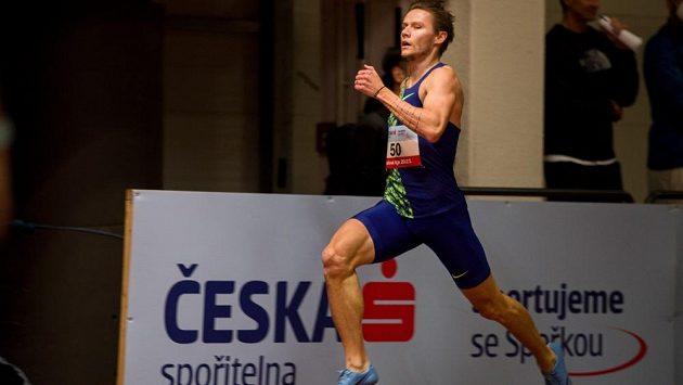 Pavel Maslák při prvním kole halové atletické ligy.