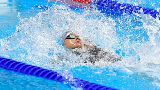 Česká plavkyně Simona Baumrtová během semifinále MS na 50 m znak.