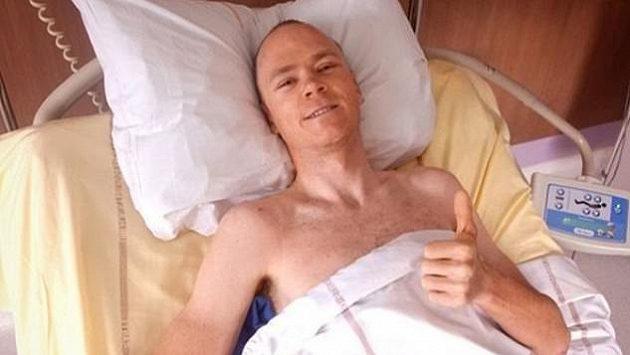 Chris Froome na jednotce intenzivní péče
