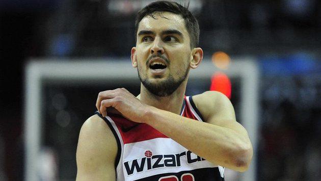 Český basketbalista Tomáš Satoranský z týmu zámořské NBA Washington Wizards.